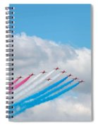 Planes Fly In Airshow Spiral Notebook
