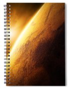 Planet Mars Close-up With Sunrise Spiral Notebook