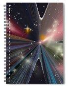 Planets Dancing Spiral Notebook