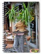 Plant And Table Top Rests On Mannequin Spiral Notebook