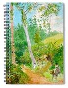 Plantain Walk Watchman And Hut Spiral Notebook