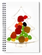 Plastic Christmas Tree Containing Sweet Spiral Notebook