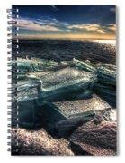 Plate Ice Brighton Beach Duluth Spiral Notebook