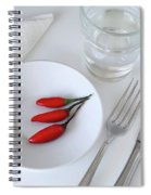 Plate Of Chilies  Spiral Notebook
