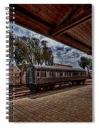 platform view of the first railway station of Tel Aviv Spiral Notebook
