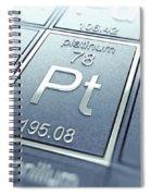 Platinum Chemical Element Spiral Notebook