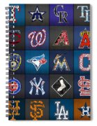 Play Ball Recycled Vintage Baseball Team Logo License Plate Art Spiral Notebook