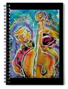 Play The Blues Bass Man Spiral Notebook