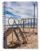 Play Time Is Over Slide Playground Spiral Notebook