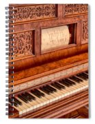 Piano Keys In The Key Of Life Spiral Notebook