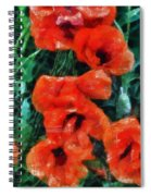 Playful Poppies 5 Spiral Notebook