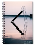 Playground Slide In Lake Spiral Notebook