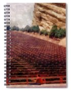 Playing At Red Rocks Spiral Notebook