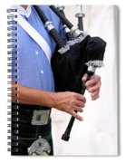 Playing Bagpipe Spiral Notebook