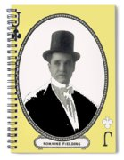 Playing Card Of Actor And Director Romain Fielding Unknown Date-2008 Spiral Notebook