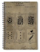 Playing Cards Patent Spiral Notebook