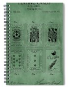 Playing Cards Patent Green Spiral Notebook