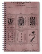 Playing Cards Patent Red Spiral Notebook