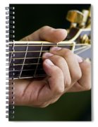 Playing Guitar Spiral Notebook