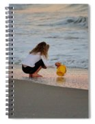 Playing In The Ocean Spiral Notebook