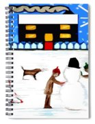 Playing In The Snow Spiral Notebook