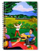 Playing Melodies Under The Shade Of Trees Spiral Notebook