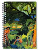 Playing Nudes Under Trees Spiral Notebook