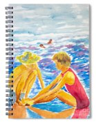 Playing On The Beach Spiral Notebook