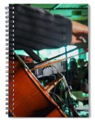 Playing The Cello  Spiral Notebook