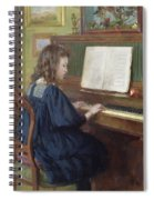 Playing The Piano Spiral Notebook