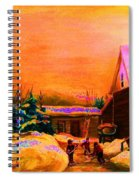 Playing Until The Sun Sets Spiral Notebook