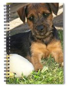 Playmates - Puppy With Toy Spiral Notebook
