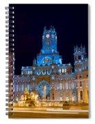 Plaza De Cibeles At Night In Madrid Spiral Notebook