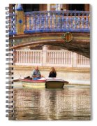Plaza De Espana Rowboats Spiral Notebook