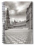 Plaza De Espana Seville Bw Spiral Notebook