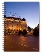 Plaza De Neptuno And Palace Hotel Spiral Notebook