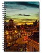 Plaza Lights At Sunset Spiral Notebook