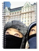 Plaza Peering Spiral Notebook