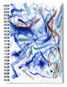 Plume Bleues Spiral Notebook