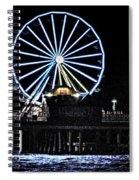 Pleasure Pier Ferris Wheel Spiral Notebook