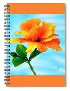 Pleasure - Yellow Double Hibiscus Spiral Notebook