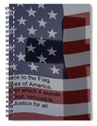 Pledge Of Allegiance Spiral Notebook