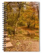 Plessey Woods Trail Over Footbridge Spiral Notebook