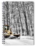 Plowin Snow Spiral Notebook
