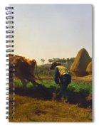 Plowing Scene Spiral Notebook