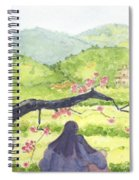 Plumb Blossom Love Spiral Notebook