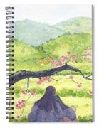 Plumb Blossom Love Spiral Notebook