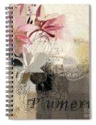Plumeria - 064073079m3 Spiral Notebook