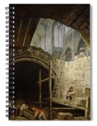 Plundering The Royal Vaults At St. Denis In October 1793 Oil On Canvas Spiral Notebook