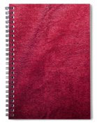 Plush Red Texture Spiral Notebook
